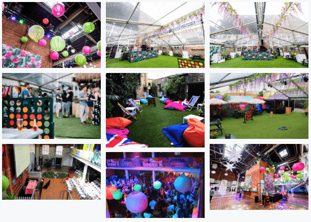 london summer venues corporate